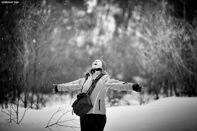 Happiness with snow