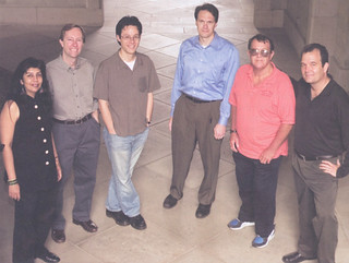 2005 Wig Professors: Zayn Kassam, Michael Kuehlwein, Paul Saint-Amour, Edward Crane, Patrick Mulcahy '66 and Paul Hurley
