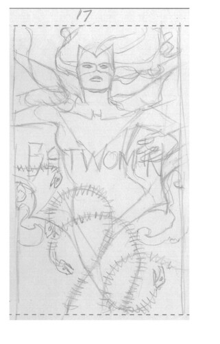 Batwoman 17 cover rough