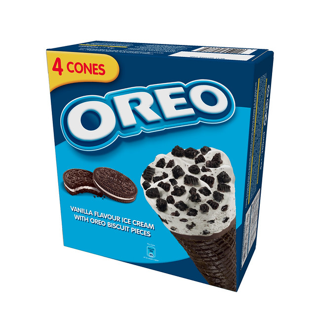 Oreo ice cream cone