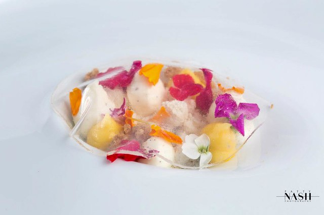 Frozen Greek Yogurt Snow, Mandarin Cremeux, Lemon Water Ha… | Flickr ...