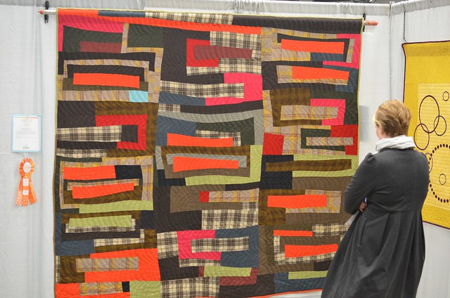 1st place Hand Quilting - Large Quilt - QuiltCon 2013 - Sherri Lynn Wood