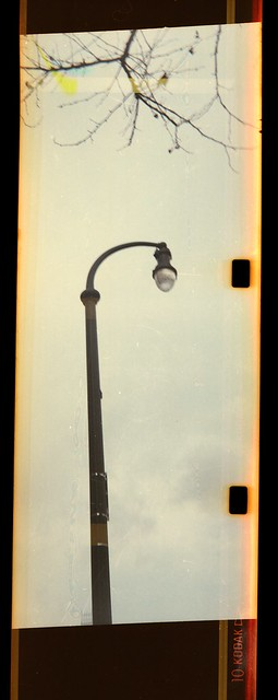 Lamp post with Instamatic sprocket holes