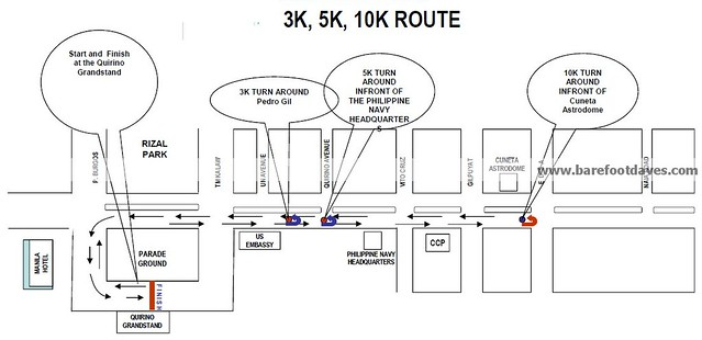 takbo para sa karunungan 2013 race map