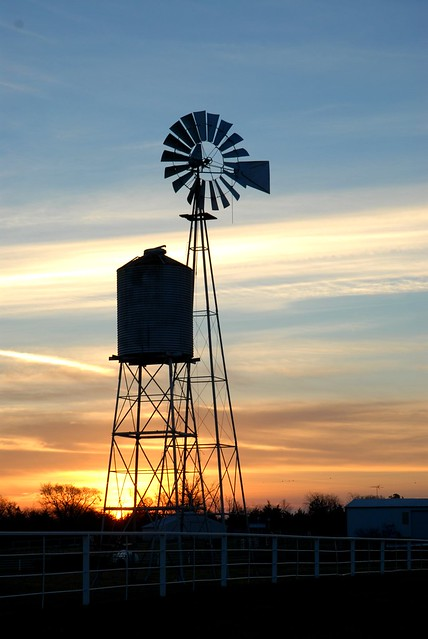 Windmill Sunrise