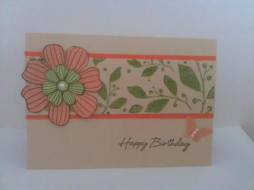 Flower panel card