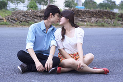[Free Images] People, Couple, Kiss ID:201302281200