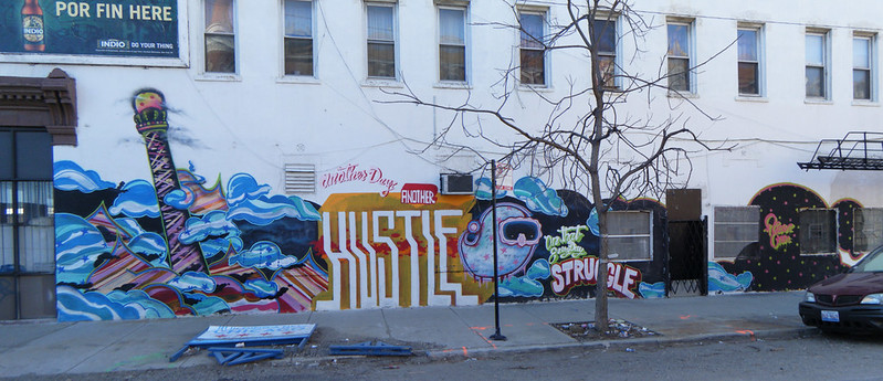 """Another Day, Another Hustle"" mural"