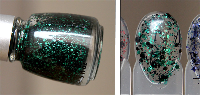 Graffiti glitter swatch