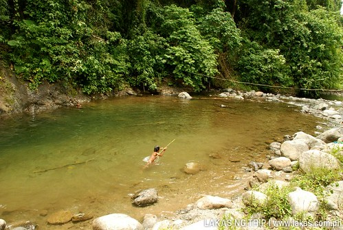Swimming at Cabcaben River