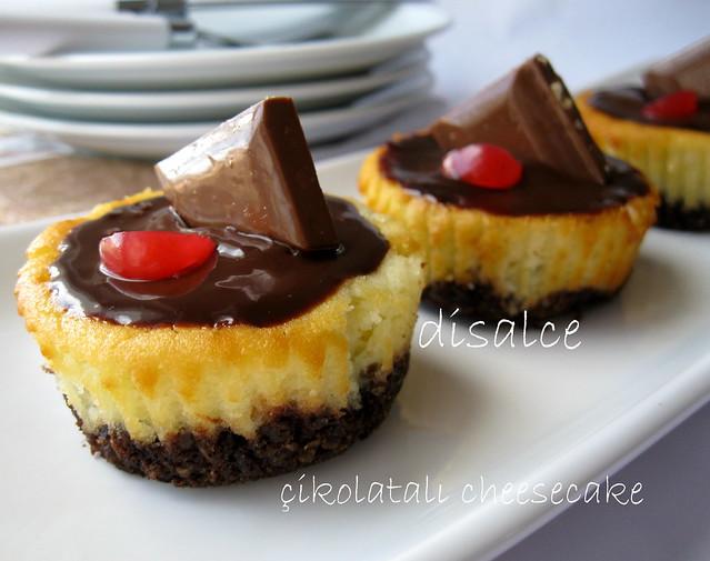 porsiyonluk çikolatalı cheesecake