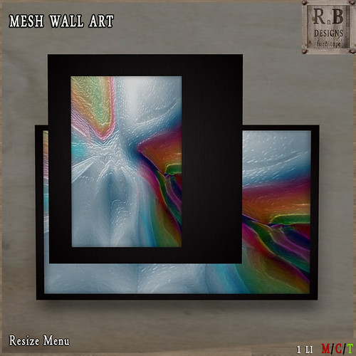 *RnB* Mesh Wall Art - Glass