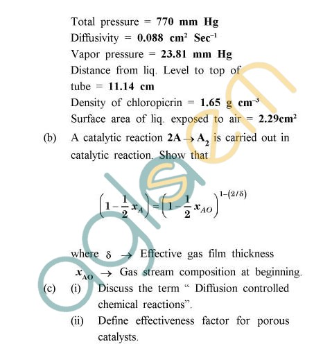 UPTU: B.Tech Question Papers - TCH-402 - Transport Phenomena