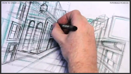 learn how to draw city buildings in perspective 023