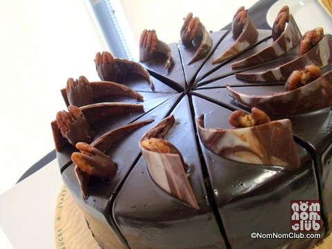 Dark Chocolate Turtle Cake