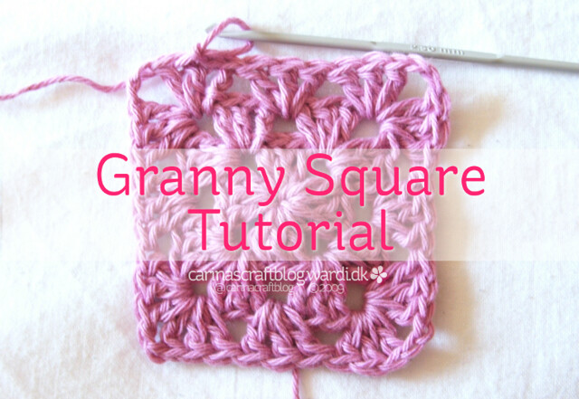 Crochet granny square tutorial