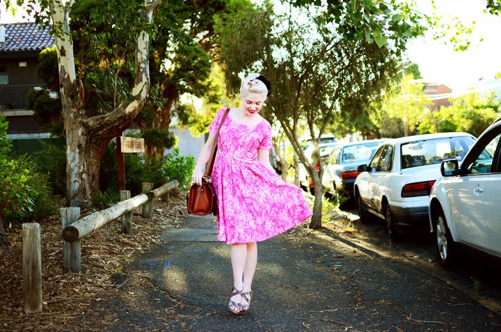 pink vintage brunswick f