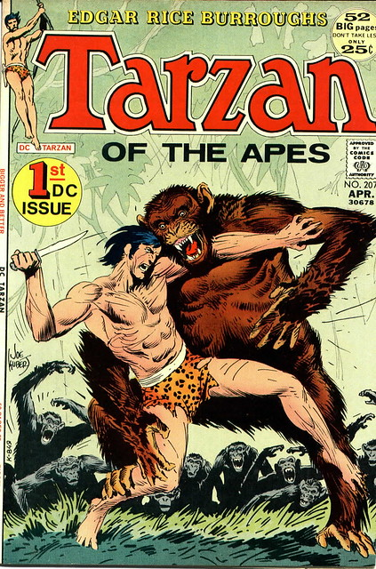 TARZAN 207 cover by Joe Kubert 1972