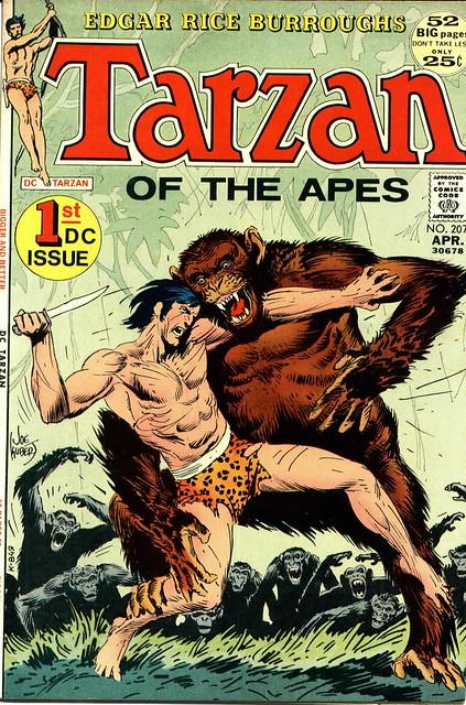 TARZAN 207 cover by Joe Kubert 1972