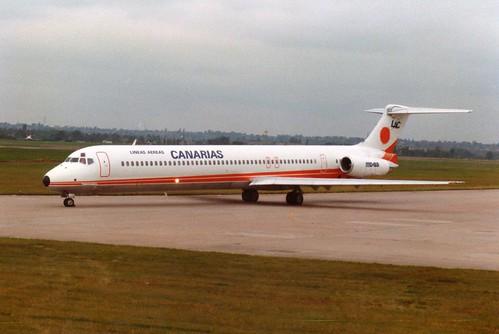 BIRMINGHAM 17 SEP 1988 LA CANARIAS MD80 EC-179