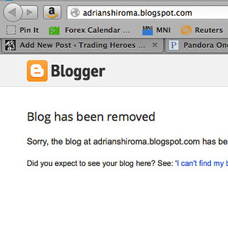 Adrian Shiroma Blog Removed