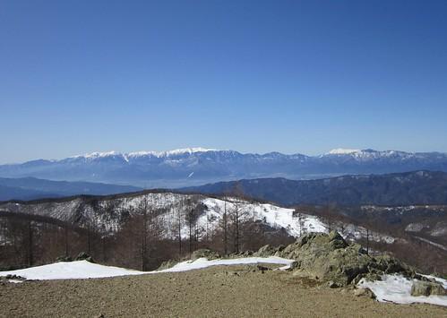 木曾御嶽山と木曾駒ケ岳など中央アルプス 2013年3月12日11:42 by Poran111