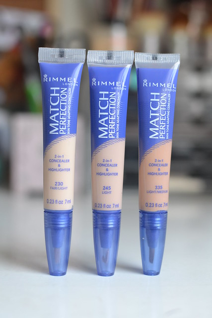 gliffyfille: Rimmel Match Perfection Concealer Swatches