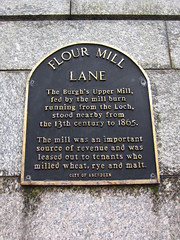 Photo of Upper Mill black plaque