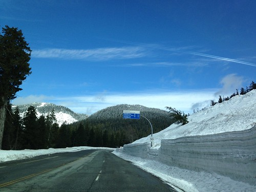 Driving up to Hollyburn Mountain