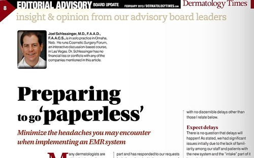 Joel Schlessinger MD discusses the process of implementing an EMR system