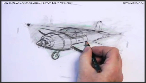 learn how to draw a cartoon airplane in two point perspective 033