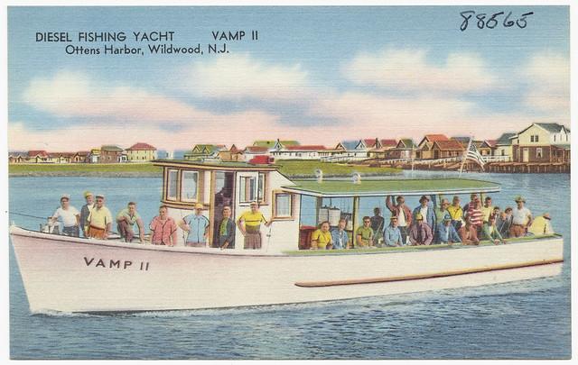 Diesel fishing yacht vamp ii ottens harbor wildwood n for Fishing wildwood nj