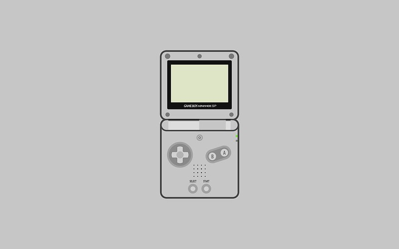 Nintendo Game Boy Advance SP wallpaper - grey