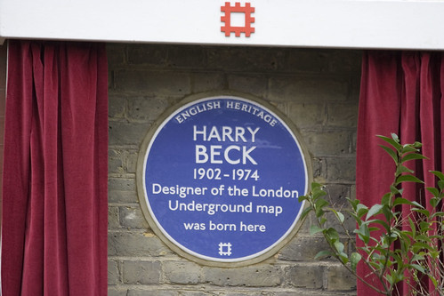 Harry Beck Plaque in Leyton