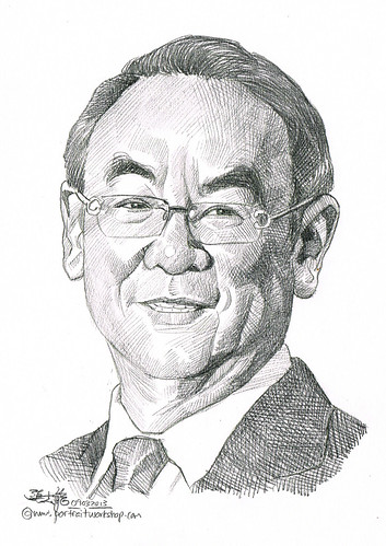Pencil portrait for Chinese Swimming Club Vincent Kuek - 17