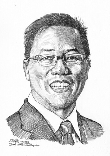 Pencil portrait for Chinese Swimming Club Wu Chee Yiun - 18