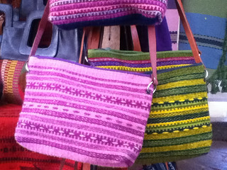 Woven bags from the López Family, Semana Santa Market