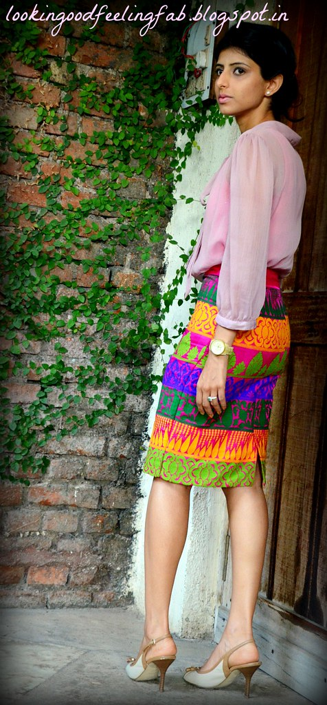 lakme fashion week 2013 outfit pink pencil skirt indian fashion blog