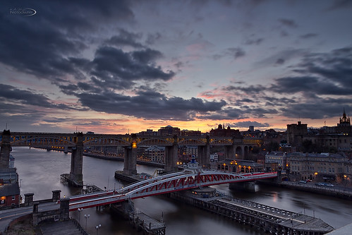 longexposure sunset water canon newcastle ian sundown tyne tynebridge northumberland northeast swingbridge flanagan 550d canon1885mm canon550d ianflanagan