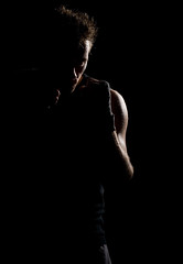 Punching bag sillouette