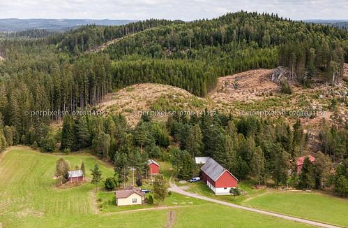 sverige swe västragötaland hestra flygfoto