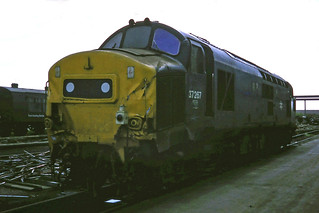 A buckled 37267 at Doncaster