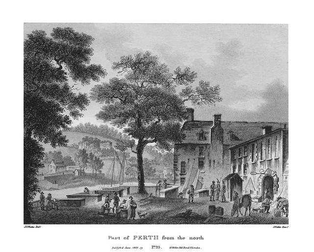 etching: Part of Perth from the North