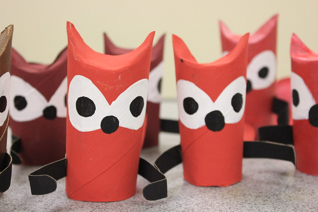 Paper Tube Foxes 1