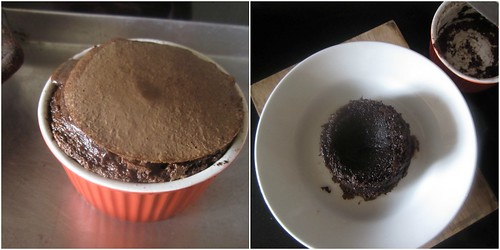 Single girl melty chocolate cake-step4