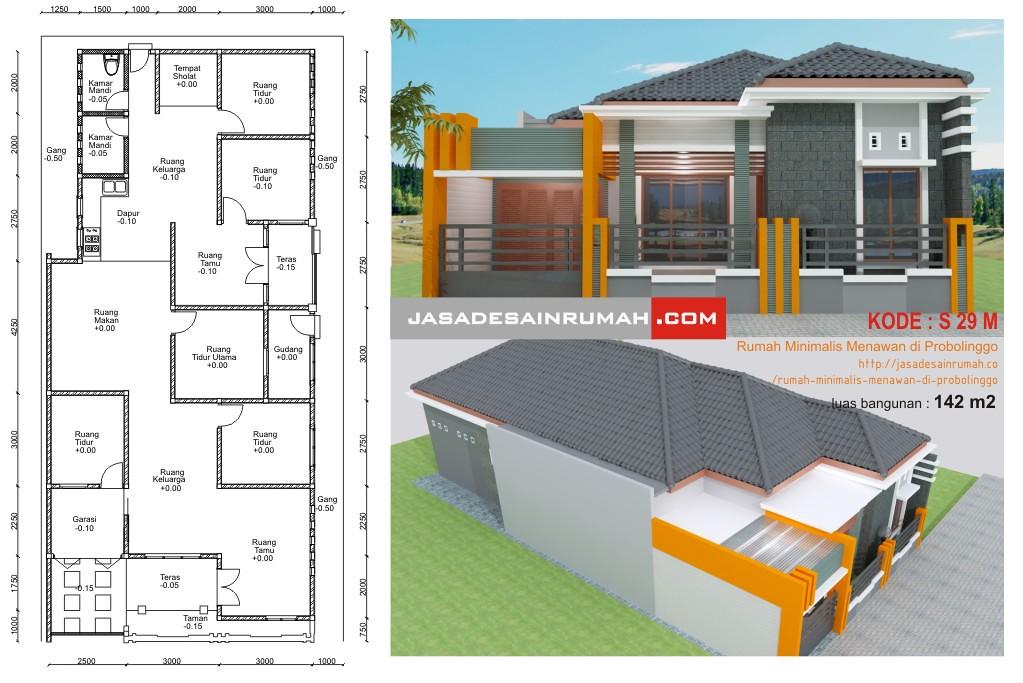 Desain Serupa Rumah Modern Di Sukoharjo