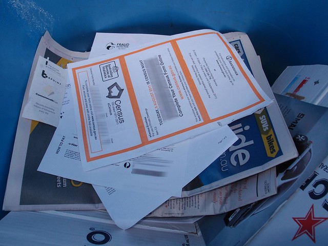 recycling bins are targets for identity thieves