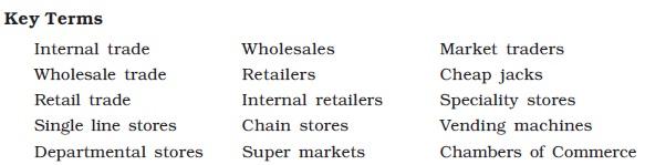 NCERT Class XI Business Studies: Chapter 10 – Internal Trade