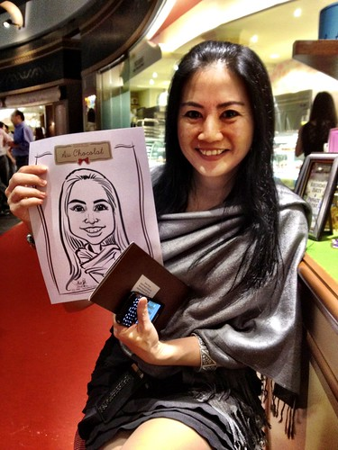 caricature live sketching for Au Chocolat Opening - 16