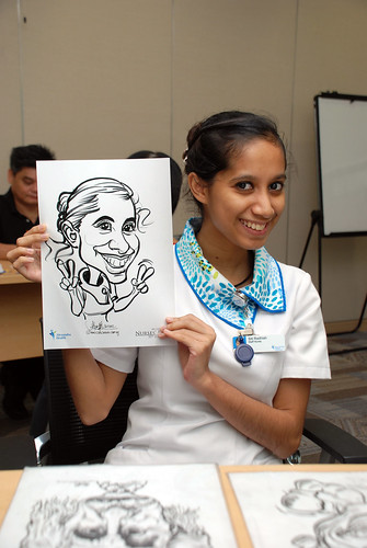 caricature live sketching for Khoo Teck Puat Hospital, Nurses' Day - 6